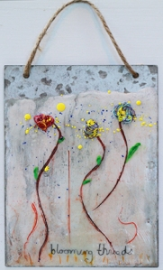 Blooming Threads encaustic by Lisa Redfern web