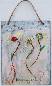 Blooming Threads encaustic by Lisa Redfern web